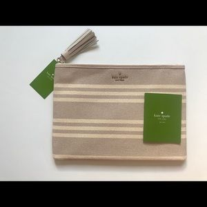 Kate spade Gia Striped Fabric Pouch